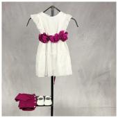 Abitino @littlebearit con dettaglio fiori prugna disponibile in boutique #ilmarmocchioshop e #online - #kidswear #ss21