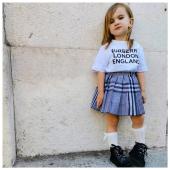 #littlecustomer Noemi❤️ in total look #burberry - #kidswear #SS21